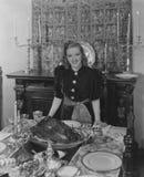 Thanksgiving hostess Stock Photos