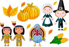 Thanksgiving icon set Royalty Free Stock Images