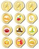 Thanksgiving icon stickers Royalty Free Stock Images