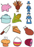 Thanksgiving Icons Stock Photography