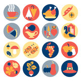 Thanksgiving icons Royalty Free Stock Photo