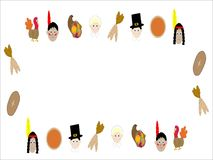Thanksgiving illustrated frame Royalty Free Stock Photo
