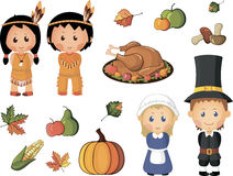 Thanksgiving icons Royalty Free Stock Image