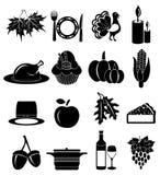 Thanksgiving icons set Royalty Free Stock Image