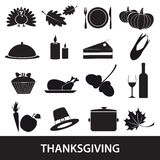 Thanksgiving icons set eps10 Royalty Free Stock Photography