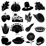 Thanksgiving Icons Vector Set Stock Photography