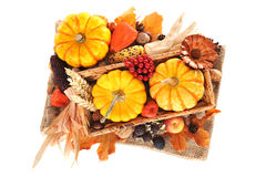 Thanksgiving with jute bag Stock Image