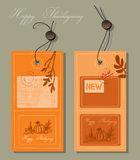 Thanksgiving label stock illustration