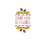 Thanksgiving label with text on white background Royalty Free Stock Image