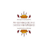Thanksgiving label with text on white background Stock Photos
