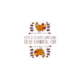 Thanksgiving label with text on white background Stock Images