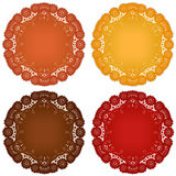 Lace Doily Place Mats Stock Image