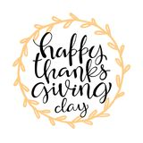 Thanksgiving lettering card design Stock Images