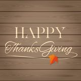 Thanksgiving lettering card Stock Images