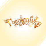 Thanksgiving lettering design with hand drawn rough sketch inscription Royalty Free Stock Photography