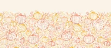 Thanksgiving line art pumkins vertical seamless