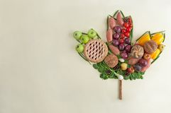 Thanksgiving meal autumn leaf concept royalty free stock photography