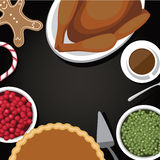 Thanksgiving meal background with copy space Stock Photography
