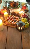 Thanksgiving meal background Stock Photos