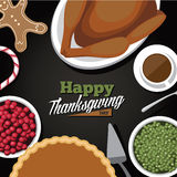 Thanksgiving meal greeting card design Royalty Free Stock Photography