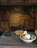 Thanksgiving Meal - Old Style. View of a traditional kitchen setting Stock Image