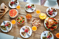 Thanksgiving meals Royalty Free Stock Image