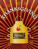Thanksgiving menu Royalty Free Stock Photos