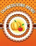 Thanksgiving Menu template Stock Photography