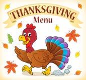 Thanksgiving menu topic image 2 royalty free illustration