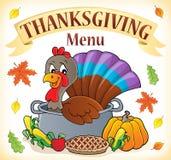 Thanksgiving menu topic image 1 vector illustration