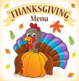 Thanksgiving menu topic image 3 stock illustration