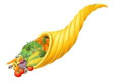 Thanksgiving Or Harvest Festival Cornucopia Horn Stock Images