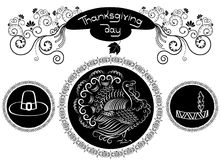 Thanksgiving ornate. Royalty Free Stock Photography