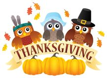 Thanksgiving owls thematic image 7 Stock Image