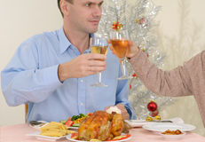 Thanksgiving party Stock Image