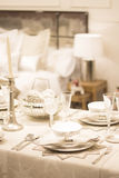 Thanksgiving party festive dinner table Stock Photography