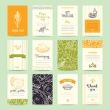 Thanksgiving Congratulation Cards, Flyers, Posters stock illustration
