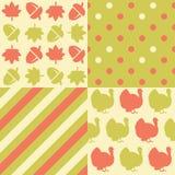 Thanksgiving patterns Royalty Free Stock Photos