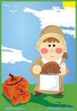 Thanksgiving Pilgrim Royalty Free Stock Photo