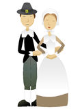 Thanksgiving Pilgrim Couple vector Royalty Free Stock Image
