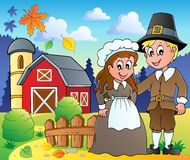 Thanksgiving pilgrim theme  Royalty Free Stock Photography