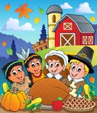Thanksgiving pilgrim theme 4 royalty free illustration