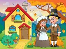 Thanksgiving pilgrim theme 5 Royalty Free Stock Photos