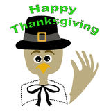 Thanksgiving pilgrim turkey Royalty Free Stock Photos