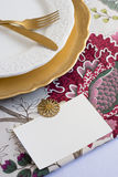 Thanksgiving Place Cards with  type Stock Photo
