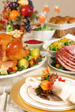 Thanksgiving Place Setting Stock Image