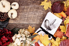 Thanksgiving Place Setting Background Stock Photography