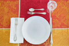 Thanksgiving place setting Royalty Free Stock Images