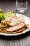 Thanksgiving Platter with cup of water Stock Image