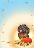 Thanksgiving postcard Stock Photography